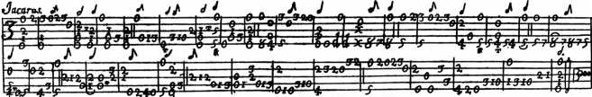 Jácara of Gaspar Sanz - original notation